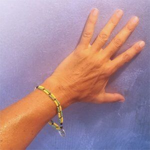 Handmade Jamaican Bracelet with pendant - NEW